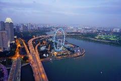 Singapore reklambladsikt i Singapore Royaltyfri Foto