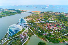 Gardens by the Bay bird's eye view Royalty Free Stock Photos