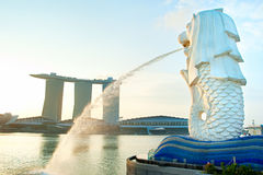 Merlion statue Stock Images