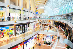 Marina Bay shopping mall Stock Images