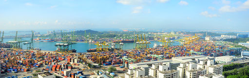 Singapore port Royalty Free Stock Photo