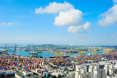 Singapore commercial port Stock Photography