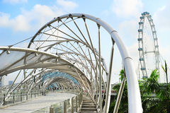 De Brug van de schroef in Singapore Stock Foto's