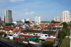 Singapore Residential area. A shot of a Singapore housing area Royalty Free Stock Photos
