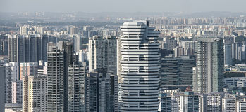 Singapore residential districts. Aerial view Stock Photography