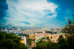 Singapore residential estate scape Royalty Free Stock Images