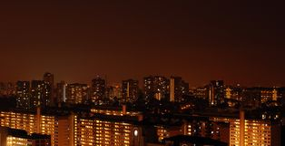Singapore residential night scene. The night scene of singapore HDB flats Royalty Free Stock Photography
