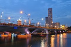 Singapore river Stock Photos