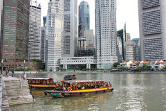 Singapore River Cruise Stock Photography
