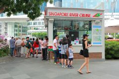 Singapore river cruise Stock Image