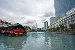 Singapore River in District Riverside Stock Photos