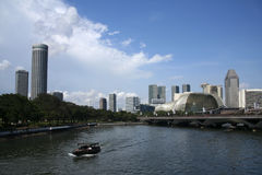 Singapore river esplanade theatre Royalty Free Stock Images