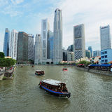 The Singapore River. Stock Photos