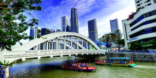 The Singapore River. Royalty Free Stock Photos
