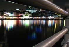 Singapore River at night Royalty Free Stock Photo