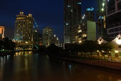 Singapore River by night Stock Images