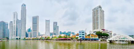 Singapore river quay Stock Photography