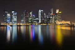 Singapore river and skyline Stock Images