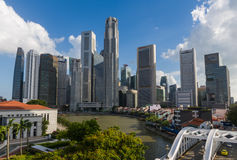 Singapore River with skyline Stock Image