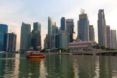 Singapore : River taxi Stock Image
