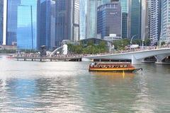 Singapore : River taxi Royalty Free Stock Photos