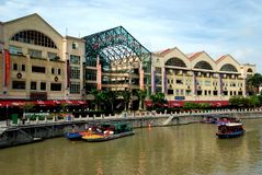 Singapore: Riverside Point Restoration Stock Photo