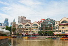 Singapore, Riverside Point Stock Photos