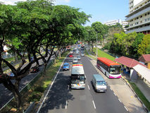 Singapore road scene Royalty Free Stock Photo