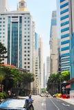 Singapore road scene Royalty Free Stock Photo