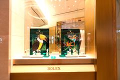 Singapore : Rolex retail store Royalty Free Stock Photography