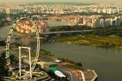 Singapore from roof Marina Bay Hotel Stock Image