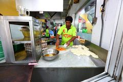 Singapore: Roti prata Stock Photo