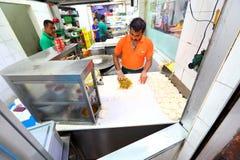 Singapore: Rotiprata Stock Afbeelding