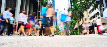Singapore rush hour Stock Photo