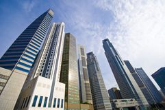 Singapore's Central Business District Royalty Free Stock Photo