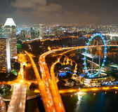 Singapore's evening cityscape Royalty Free Stock Photo
