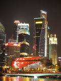 Singapore's Financial District night scene Stock Photography