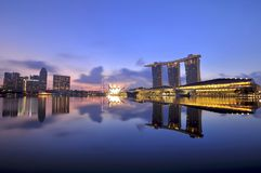 Singapore's Majestic Marina Bay Royalty Free Stock Images