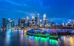 Singapore's Marina Business Centre Stock Photography