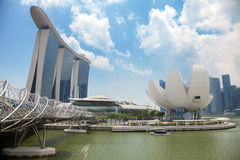 Singapore's modern buildings in city centre Royalty Free Stock Photos