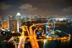 Singapore's night cityscape Royalty Free Stock Photography