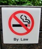 Singapore's prohibition. Banning smoking outdoors in singapore Royalty Free Stock Image