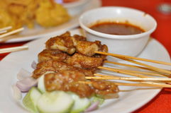 Singapore Satays royalty free stock image