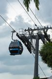 Singapore Sentosa Cable Car, Singapore, December 28, 2017 royalty free stock photography