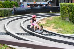 Singapore Sentosa Skyride Luge, Singapore, December 28, 2017 Royaltyfria Foton