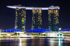 04 Singapore-sep: 6 3 biliiondollar (vs) Marina Bay Sands Hotel Stock Afbeelding