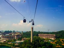 SINGAPORE 12 SEP 2017, Singapore cable car to Sentosa.  royalty free stock photo