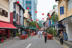 Singapore Chinatown street scene Royalty Free Stock Photo