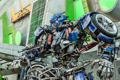 Singapore-09 SEP 2017: transformatoru metalu postaci pierwszorzędny pokaz w universal studio fotografia stock