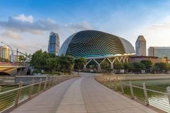 Singapore -September 25 2017 : building Esplanade - Theatres on stock photos